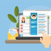 reviewing online resumes or learners personas