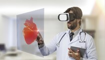 Male Doctor Using Virtual Reality