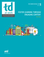 Foster Learning Through Engaging Content