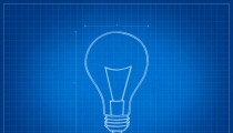 blueprint lightbulb