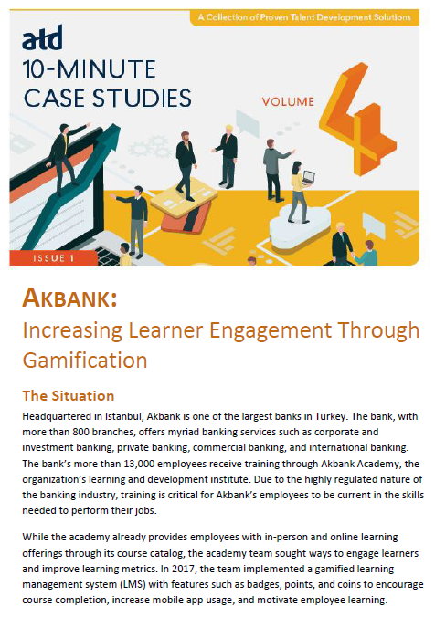 Akbank: Increasing Learner Engagement Through Gamification