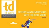 TD at Work Cover Develop Management Skills With the ACCEL Model