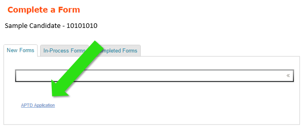 APTD Application Form