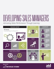 developing sales managers cover