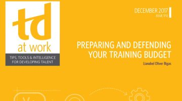TD at Work Cover: Preparing and Defending Your Training Budget December 2017
