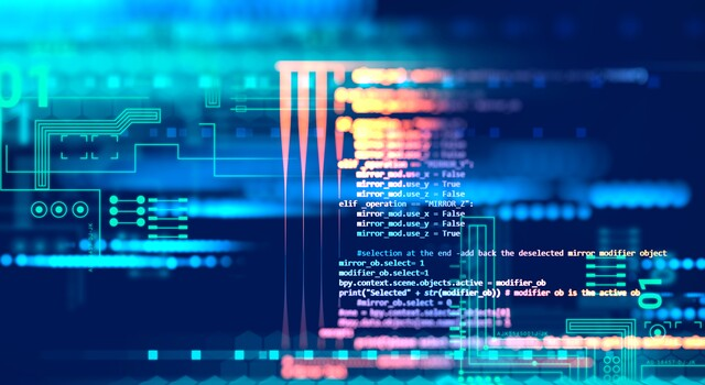Programming code abstract technology background of software development-23924