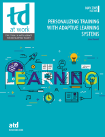 Personalized Training with Adaptive Learning Systems
