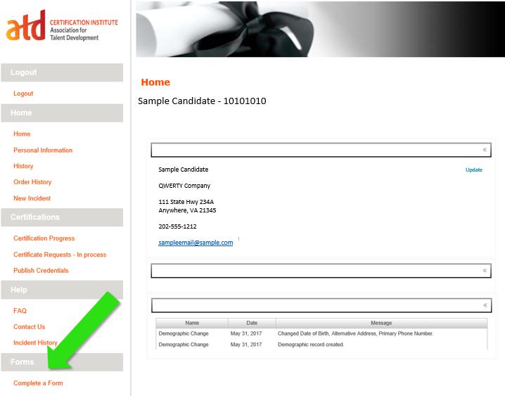 APTD Candidate Application Form