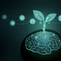 Tree growing out of human brain. Silhouette illustration about the ways to Build a Growth Mindset and good Attitude..png