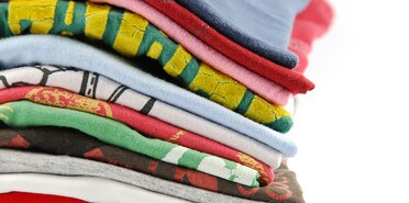 pile of colorful t-shirts