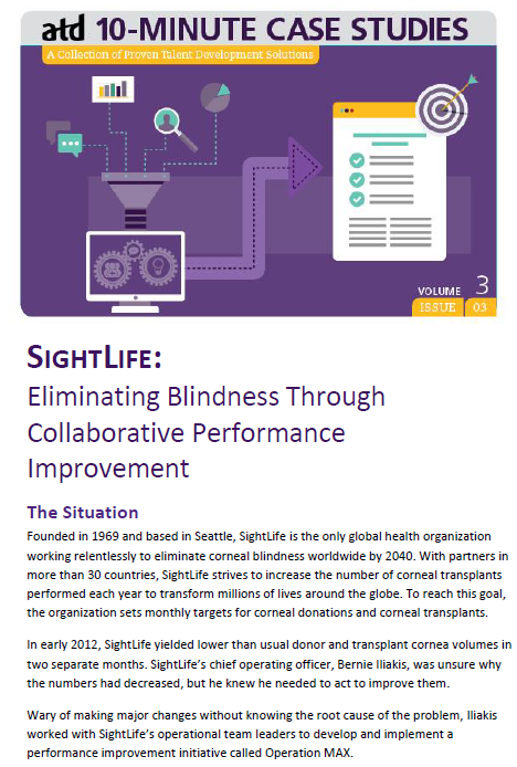 Sightlife Eliminating Blindness Through Collaborative Performance