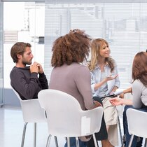 focus group in small meeting