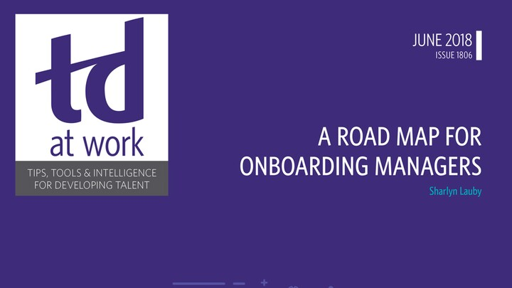 A Road Map for Onboarding Managers