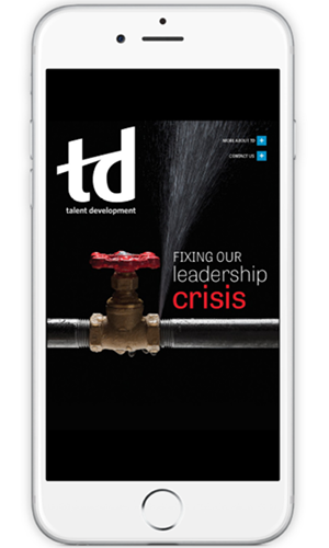 publications app td magazine phone screen