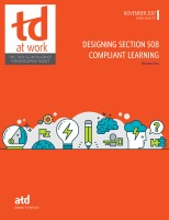 Designing Section 508 Compliant Learning November 2017 TD at Work Cover