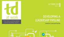 TD at Work Cover Developing a Leadership Pipeline